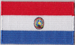 Paraguay Embroidered Flag Patch, style 04